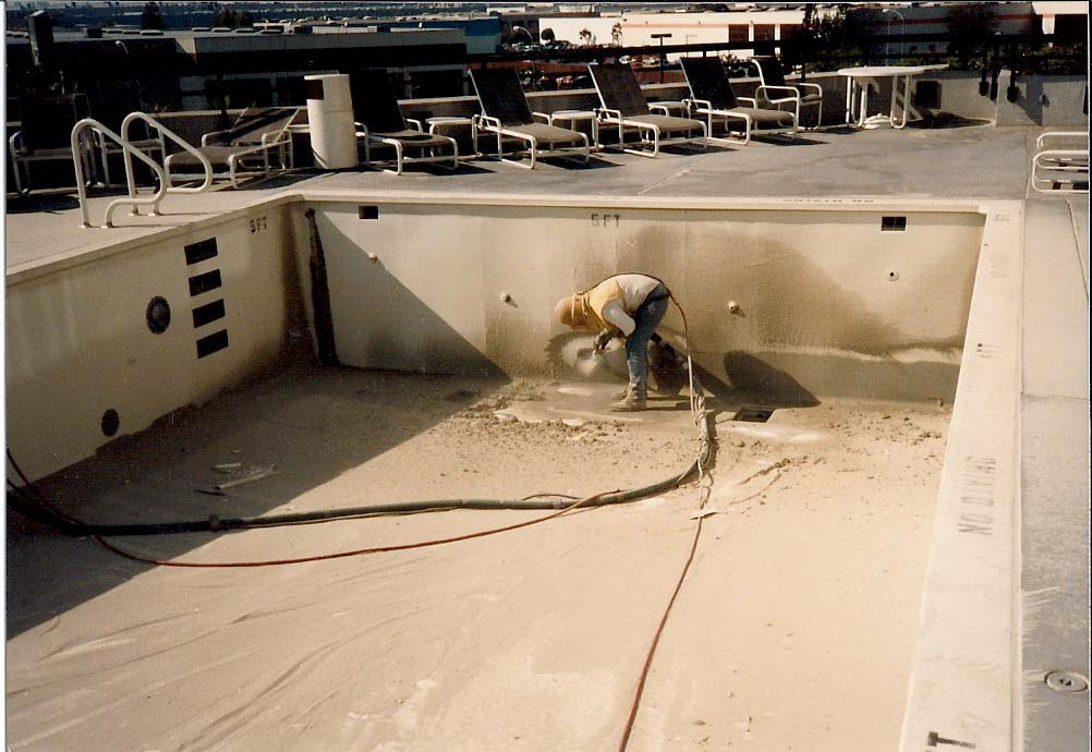 Culwell Abrasive And Sandblasting Hyatt Hotel Pool Culwell Abrasive And Sandblasting