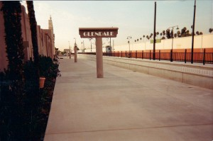 Metrolink in Glendale - Sandblasted Concrete